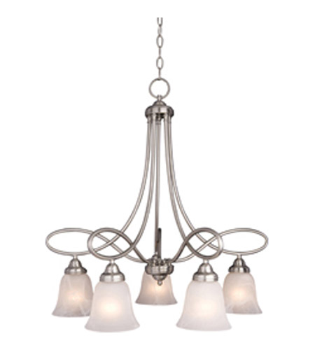 Maxim 11043MRSN Nova 5 Light 26 inch Satin Nickel Down Light Chandelier Ceiling Light photo