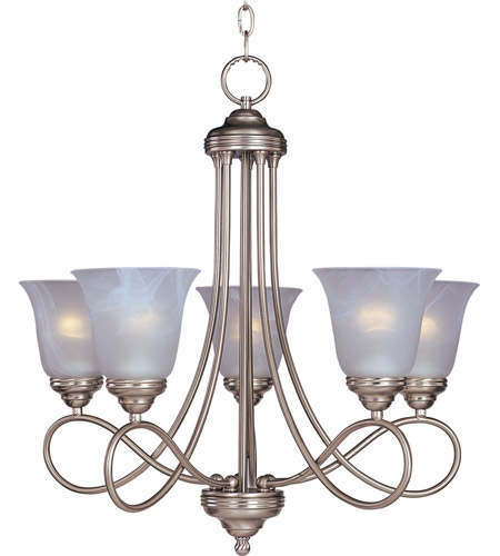 Maxim 11044MRSN Nova 5 Light 25 inch Satin Nickel Single Tier Chandelier Ceiling Light photo