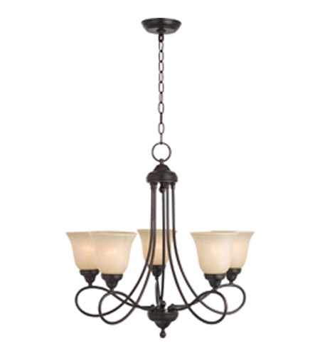Maxim Lighting Nova 5 Light Single Tier Chandelier in Oil Rubbed Bronze 11044WSOI photo