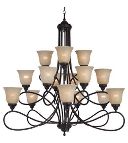 Maxim Lighting Nova 15 Light Multi-Tier Chandelier in Oil Rubbed Bronze 11045WSOI photo