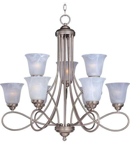 Maxim 11046MRSN Nova 9 Light 31 inch Satin Nickel Multi-Tier Chandelier Ceiling Light photo