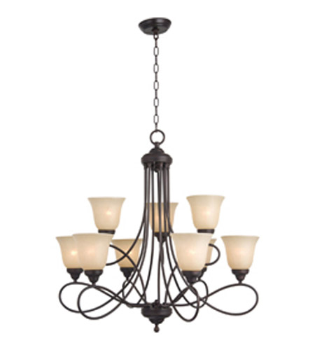 Maxim Lighting Nova 9 Light Multi-Tier Chandelier in Oil Rubbed Bronze 11046WSOI photo