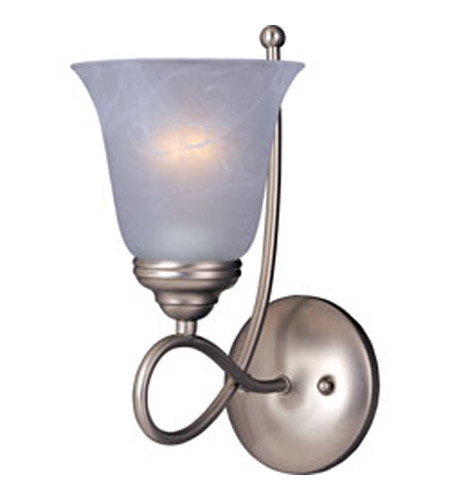 Maxim 11047MRSN Nova 1 Light 6 inch Satin Nickel Wall Sconce Wall Light photo