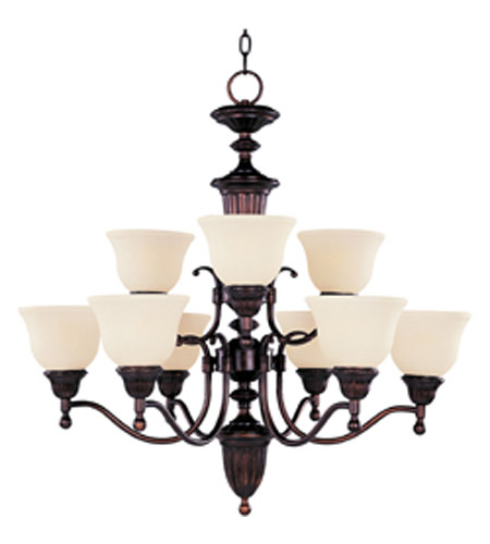 Maxim Lighting Soho 9 Light Multi-Tier Chandelier in Oil Rubbed Bronze 11054SVOI photo