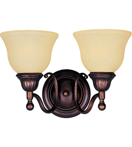 Maxim Lighting Soho 2 Light Bath Light in Oil Rubbed Bronze 11057SVOI photo