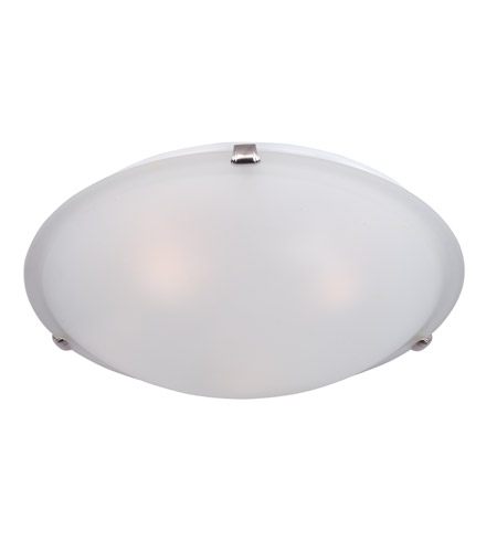 Maxim 11060FTSN Malaga 4 Light 20 inch Satin Nickel Flush Mount Ceiling Light in Frosted photo