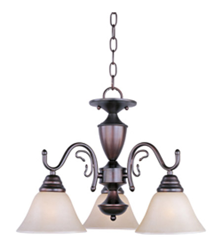 Maxim Lighting Newport 3 Light Mini Chandelier in Oil Rubbed Bronze 11061WSOI photo