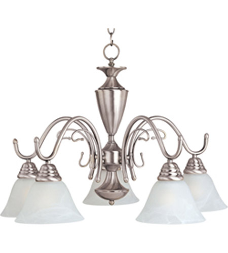 Maxim Lighting Newport 5 Light Down Chandelier In Satin Nickel 11062mrsn