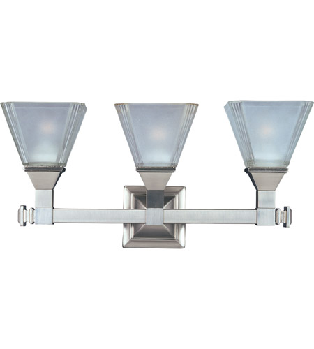 Maxim 11078FTSN Brentwood 3 Light 21 inch Satin Nickel Bath Light Wall Light photo