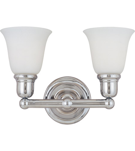 Maxim Lighting Bel Air 2 Light Bath Light in Polished Chrome 11087WTPC photo