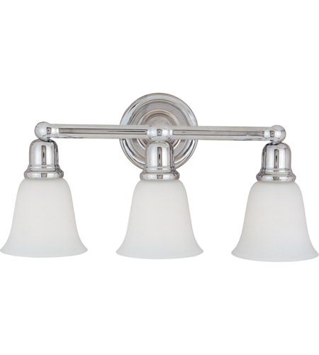 Maxim WTPC Bel Air Light Inch Polished Chrome Bath Light - Polished chrome bathroom light fixtures