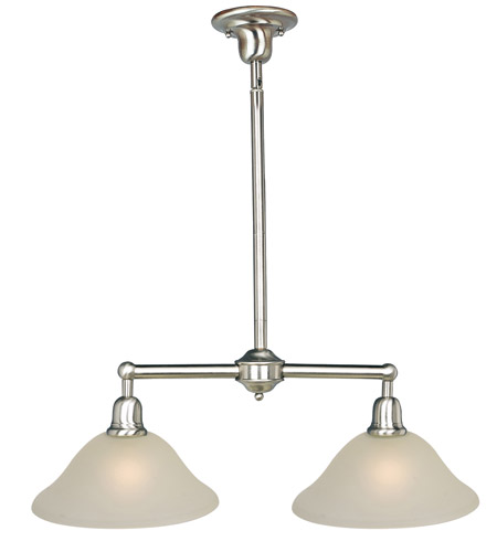 Maxim 11092SVSN Bel Air 2 Light 31 inch Satin Nickel Island Pendant Ceiling Light photo