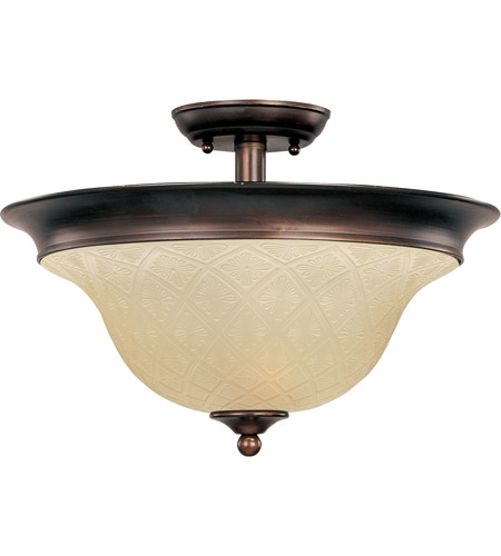 Maxim Lighting Brighton 3 Light Semi Flush Mount in Oil Rubbed Bronze 11172EVOI photo