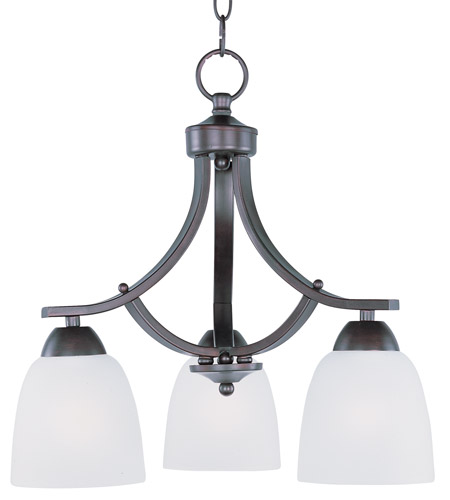 Maxim 11223FTOI Axis 3 Light 18 inch Oil Rubbed Bronze Down Light Chandelier Ceiling Light in 18 in. photo
