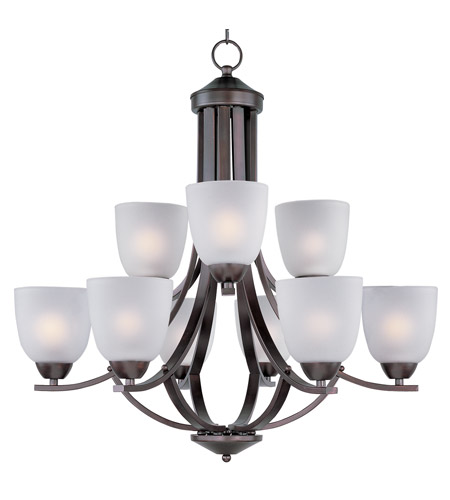Maxim Lighting Axis 9 Light Multi-Tier Chandelier in Oil Rubbed Bronze 11226FTOI photo