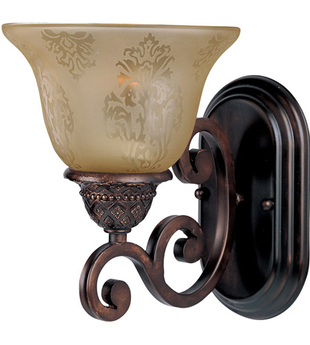 Maxim 11230SAOI Symphony 1 Light 7 inch Oil Rubbed Bronze Wall Sconce Wall Light in Screen Amber photo