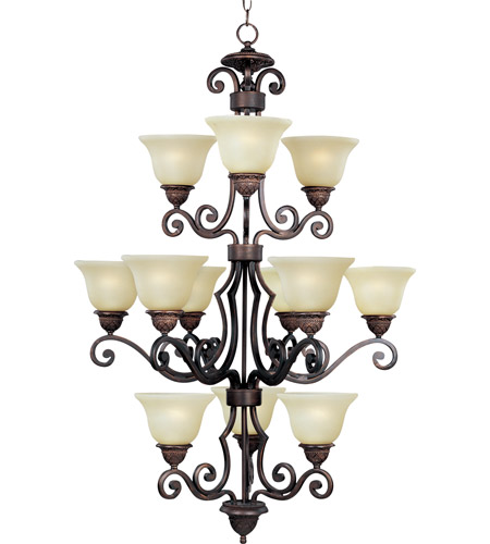 Maxim Lighting Symphony 12 Light Multi-Tier Chandelier in Oil Rubbed Bronze 11238SVOI photo