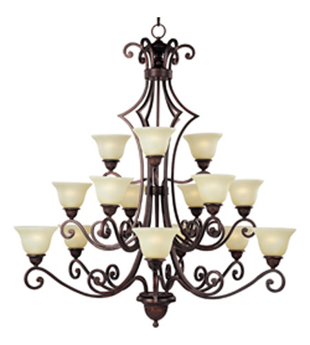 Maxim lighting symphony 15 light multi tier chandelier in oil rubbed bronze 11239svoi