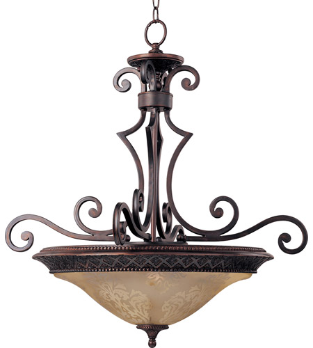 Maxim Lighting Symphony 3 Light Pendant in Oil Rubbed Bronze 11242SAOI photo