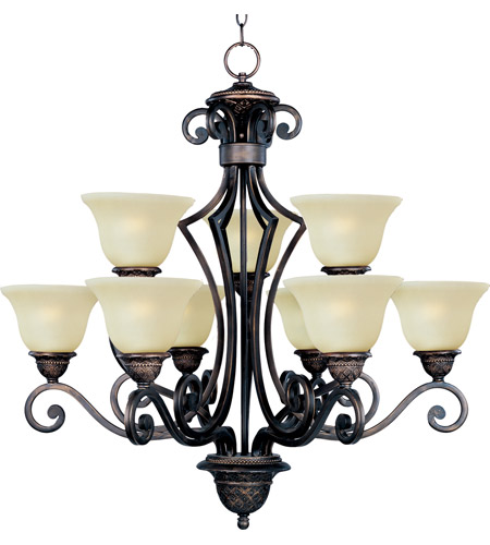 Maxim Lighting Symphony 9 Light Multi-Tier Chandelier in Oil Rubbed Bronze 11245SVOI photo