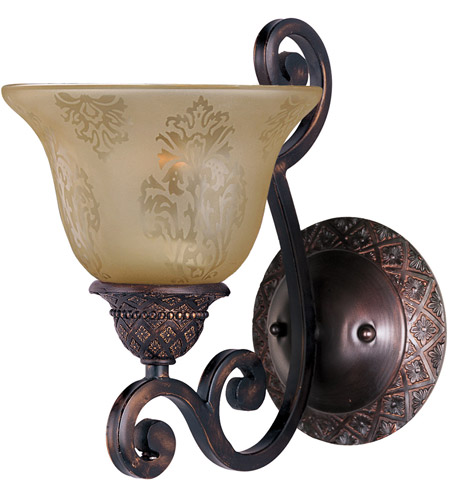 Maxim 11246SAOI Symphony 1 Light 7 inch Oil Rubbed Bronze Wall Sconce Wall Light in Screen Amber photo