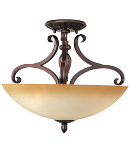 Maxim Lighting Bolero 3 Light Semi-Flush Mount in Oil Rubbed Bronze 11291WSOI photo