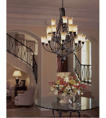 Maxim Lighting Bolero 20 Light Multi-Tier Chandelier in Oil Rubbed Bronze 11297WSOI photo