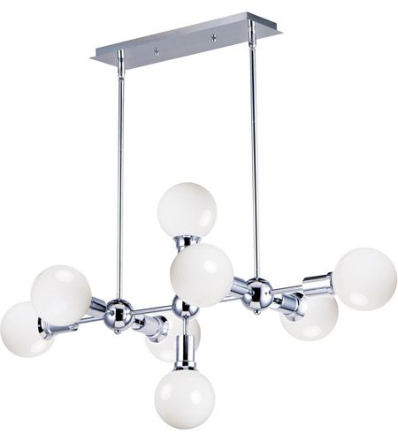 Maxim 11348PC Molecule 8 Light 39 inch Polished Chrome Linear Pendant Ceiling Light photo