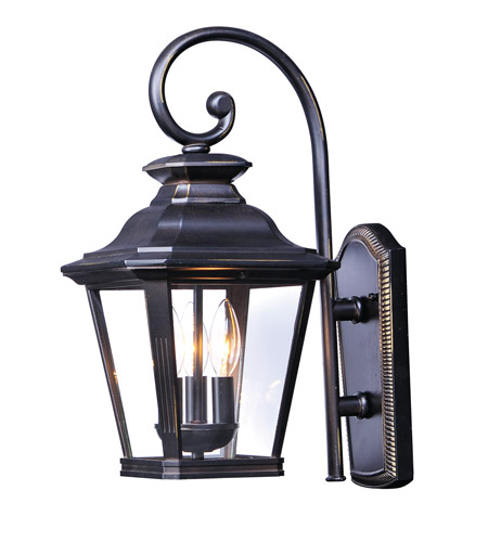Maxim 1137CLBZ Knoxville 3 Light 23 inch Bronze Outdoor Wall Sconce photo