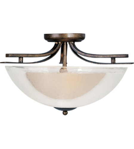 Maxim Lighting Duo 2 Light Semi Flush Mount in Auburn Dusk 11521TCAD photo
