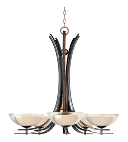 Maxim Lighting Duo 5 Light Single-Tier Chandelier in Auburn Dusk 11525TCAD photo