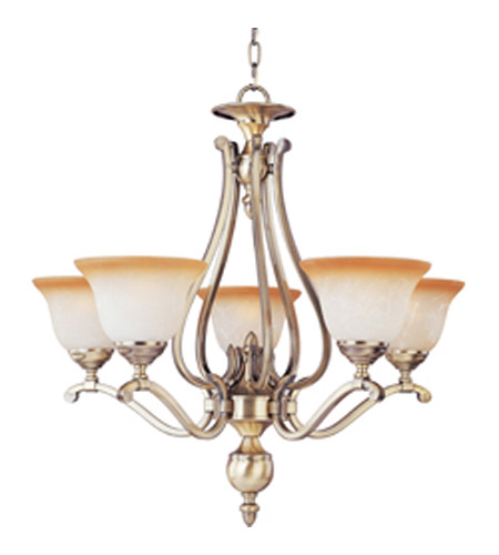Maxim lighting boca 5 light single tier chandelier in light gold 11674ltlg