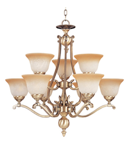 Maxim Lighting Boca 9 Light Multi-Tier Chandelier in Light Gold 11675LTLG photo