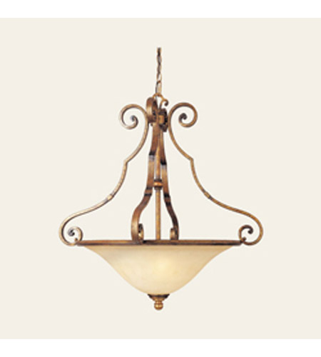 Maxim Lighting La Scalla 3 Light Pendant in Gold Umber 11763WSGU photo