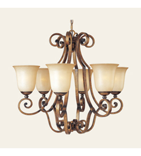 Maxim Lighting La Scalla 6 Light Single Tier Chandelier in Gold Umber 11764WSGU photo