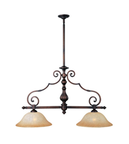 Maxim Lighting La Scalla 2 Light Island Pendant in Weathered Copper 11769MCWC photo