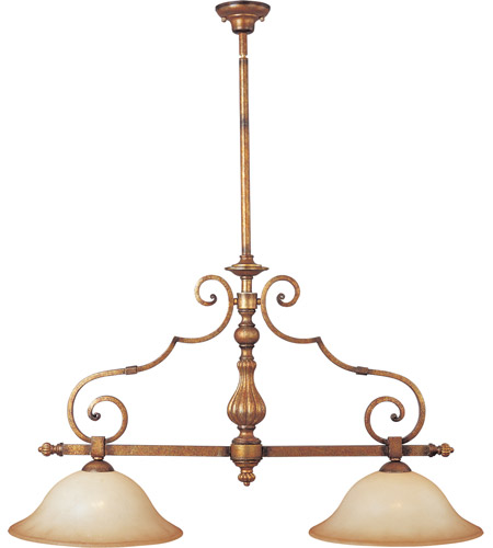 Maxim Lighting La Scalla 2 Light Island Pendant in Gold Umber 11769WSGU photo