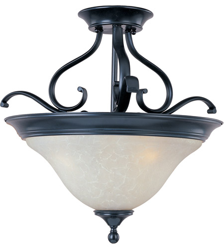 Maxim 11801ICBK Linda 3 Light 19 inch Black Semi Flush Mount Ceiling Light photo