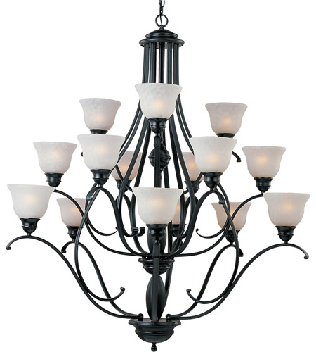 Maxim Lighting Linda 15 Light Multi-Tier Chandelier in Black 11809ICBK photo