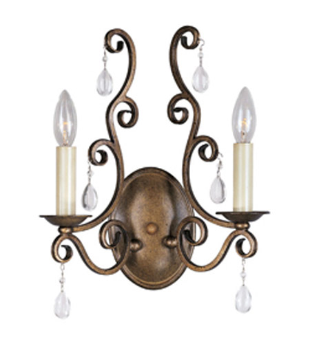 Maxim Lighting Hampton 2 Light Wall Sconce in Auburn Dusk 12032AD photo