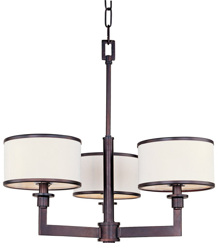 Maxim 12054WTOI Nexus 3 Light 21 inch Oil Rubbed Bronze Mini Chandelier Ceiling Light photo