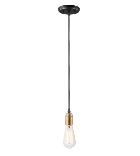 Maxim 12121bkab Early Electric 1 Light 5 Inch Black And Antique Brass Single Pendant Ceiling Light