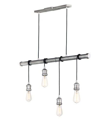 Maxim 12135WZ Early Electric 4 Light 5 inch Weathered Zinc Multi-Light Pendant Ceiling Light photo thumbnail