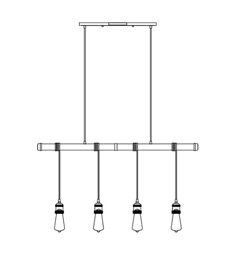 Maxim 12135WZ Early Electric 4 Light 5 inch Weathered Zinc Multi-Light Pendant Ceiling Light alternative photo thumbnail