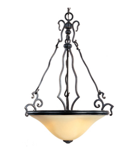 Maxim Lighting Castello 3 Light Pendant in Artesian Bronze 12165WCAT photo