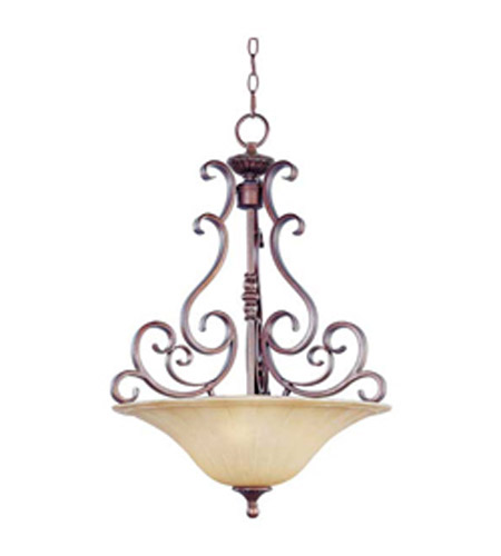 Maxim Lighting Provence 3 Light Pendant in Henna 12173MCHN photo