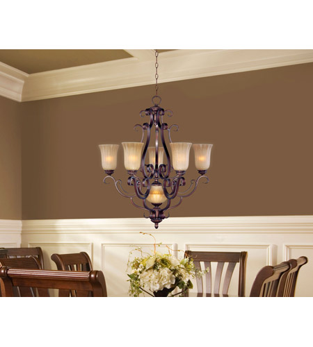 Maxim Lighting Provence 6 Light Multi-Tier Chandelier in Henna 12175MCHN photo