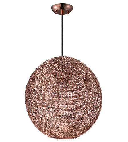 Maxim 12194cp twisp 1 light 16 inch copper pendant ceiling light aloadofball Image collections