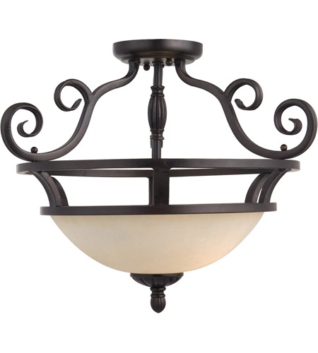 Maxim Lighting Manor 2 Light Semi Flush Mount in Oil Rubbed Bronze 12201FIOI photo