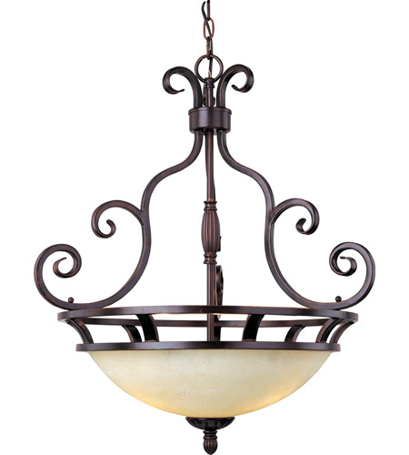 Maxim 12202FIOI Manor 3 Light 23 inch Oil Rubbed Bronze Pendant Ceiling Light photo